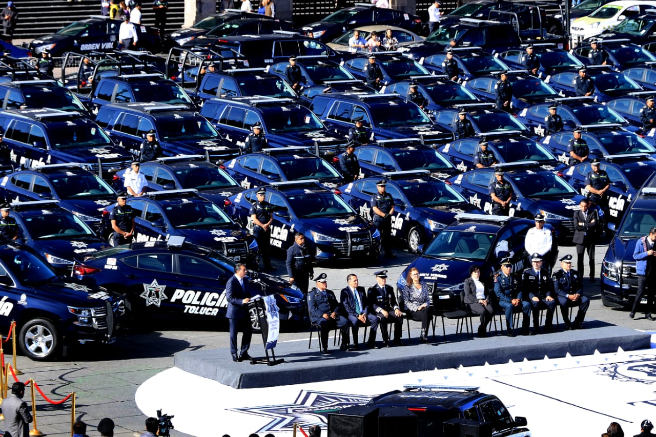 500 nuevas patrullas en Toluca, Seguridad Toluca