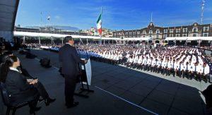 Graduación de cadetes y seguridad en Toluca por Juan Rodolfo Sanchez