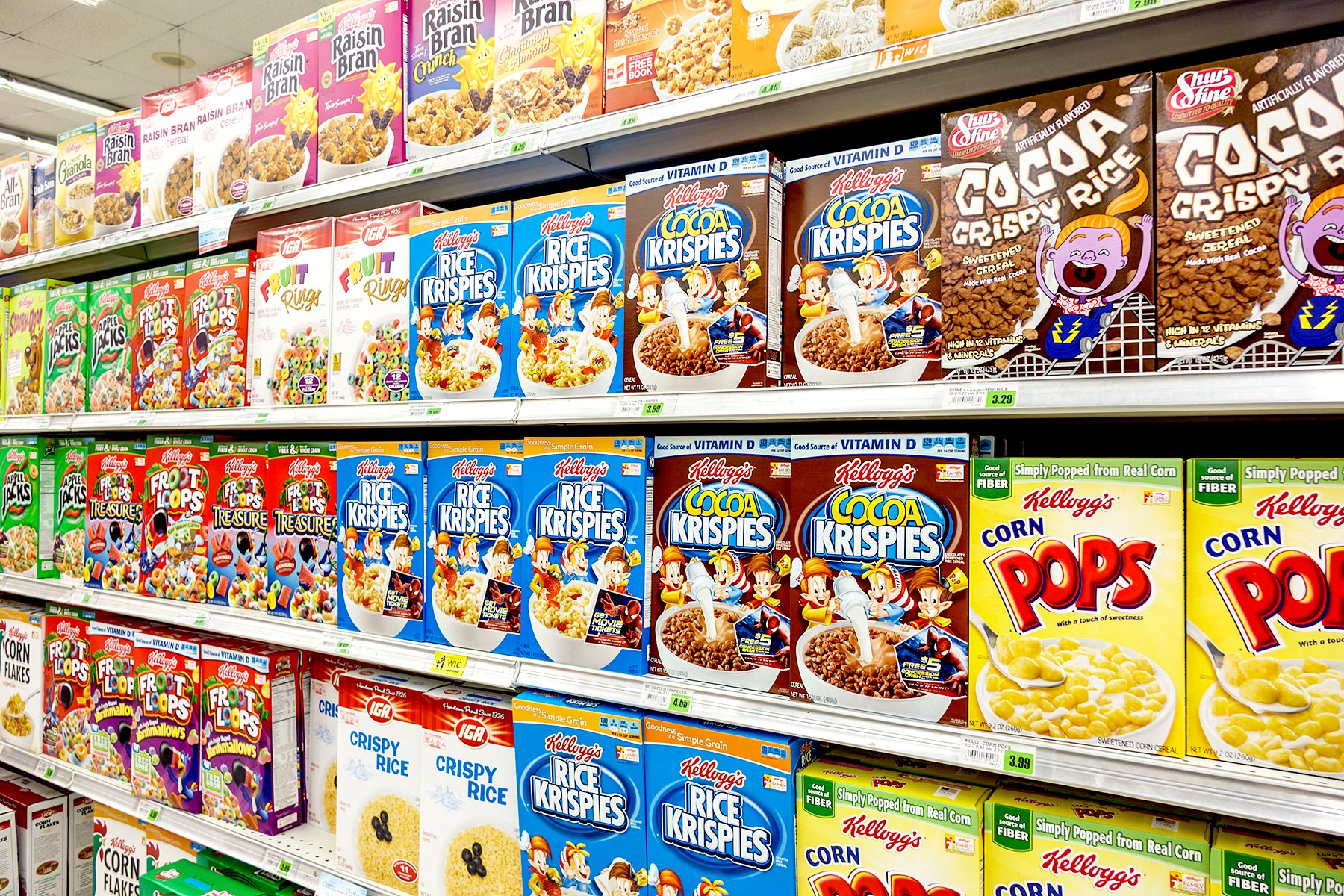 Kellogs cereales dañinos de México