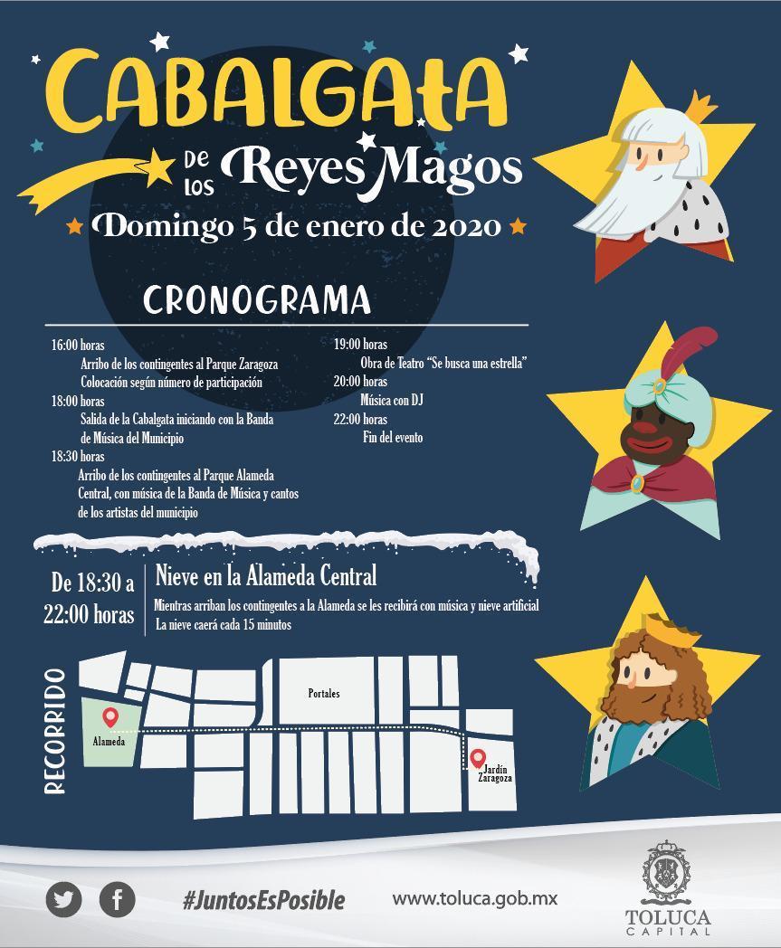 Programa de Cabalgata de Reyes Magos Alameda Central