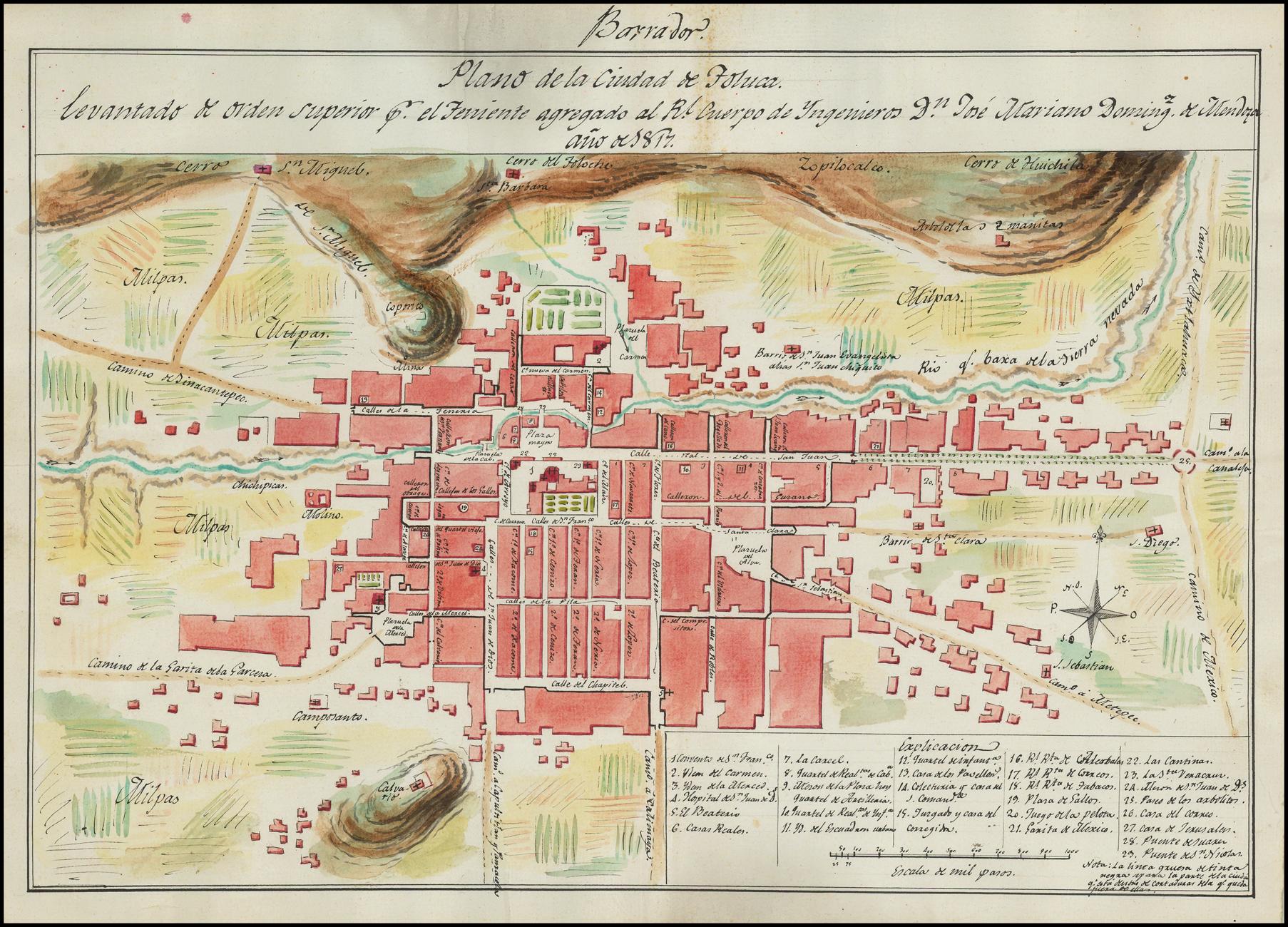 Planos de Guerra de Toluca del año 1817