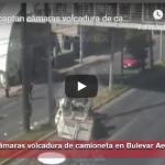 captan volcadura de camioneta en Toluca