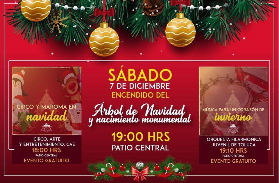 Encendido de árbol de navidad en Toluca