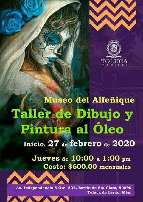 Taller de dibujo y pintura al óleo en Museo del Alfenique