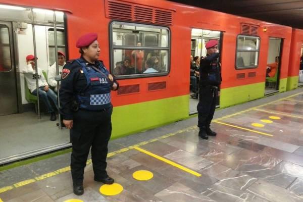 Usuario del metro ataca a mordidas a policia