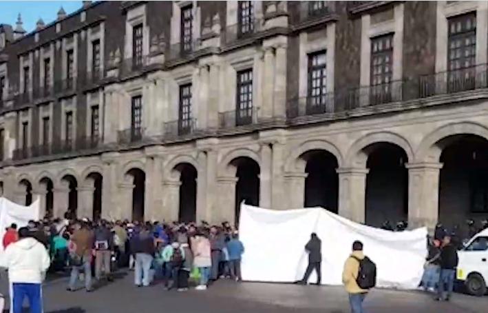 centro de toluca bloqueado por manifestantes