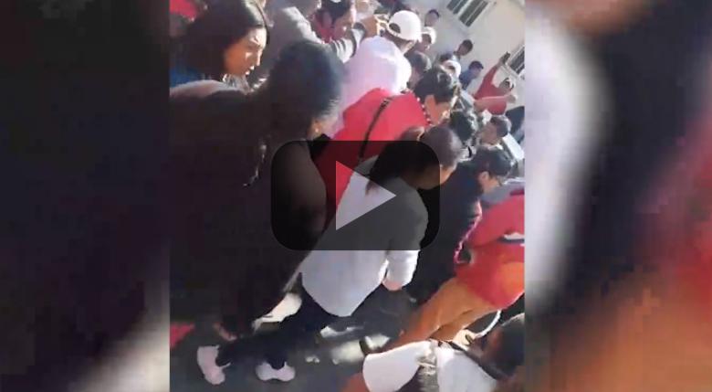 Golpean a sujeto que intentaba robarse un niño en Toluca