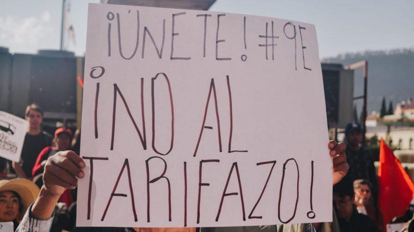 """Diputados van contra el """"Tarifazo"""" en el transporte."""