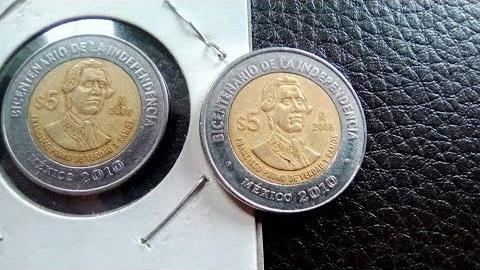 Monedas conmemorativas del Bicentenario se venden hasta en mil pesos