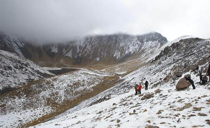 Nevado Toluca presento 12 grados bajo cero