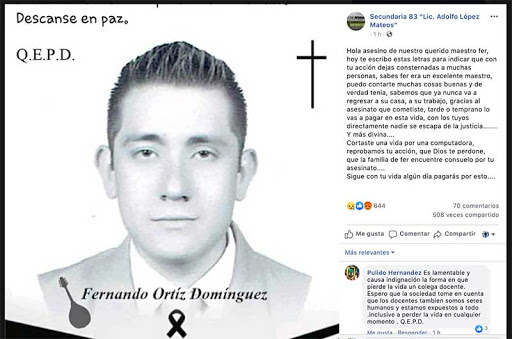 Detienen a presunto asesino de profesor de San Mateo Atenco