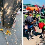 Así la basura que dejan peregrinos rumbo a la Basílica de Guadalupe