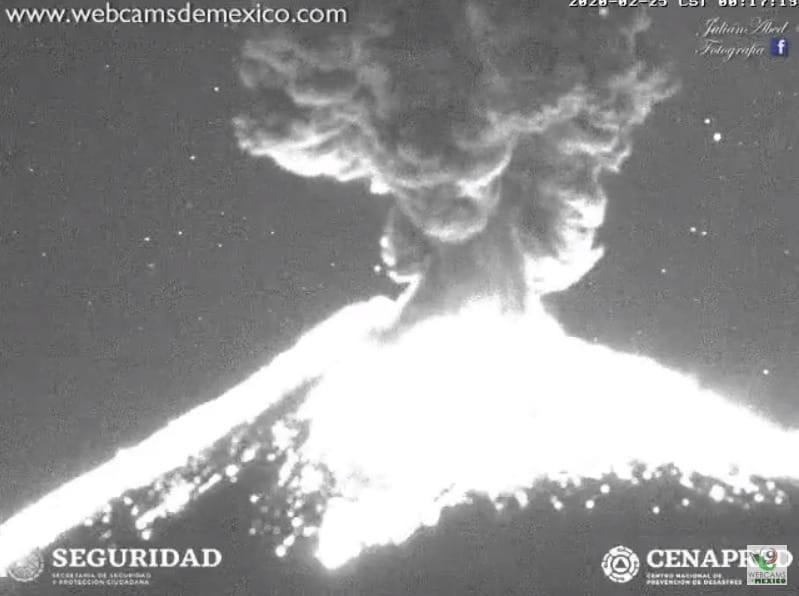 Video de la explosión del Volcán Popocatépetl