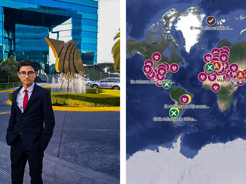 Fernando Caballero de Metepec, creador del Mapa de Coronavirus