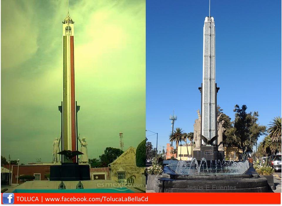 Monumento a la Bandera de México de Ciudad el Carmen y de Toluca