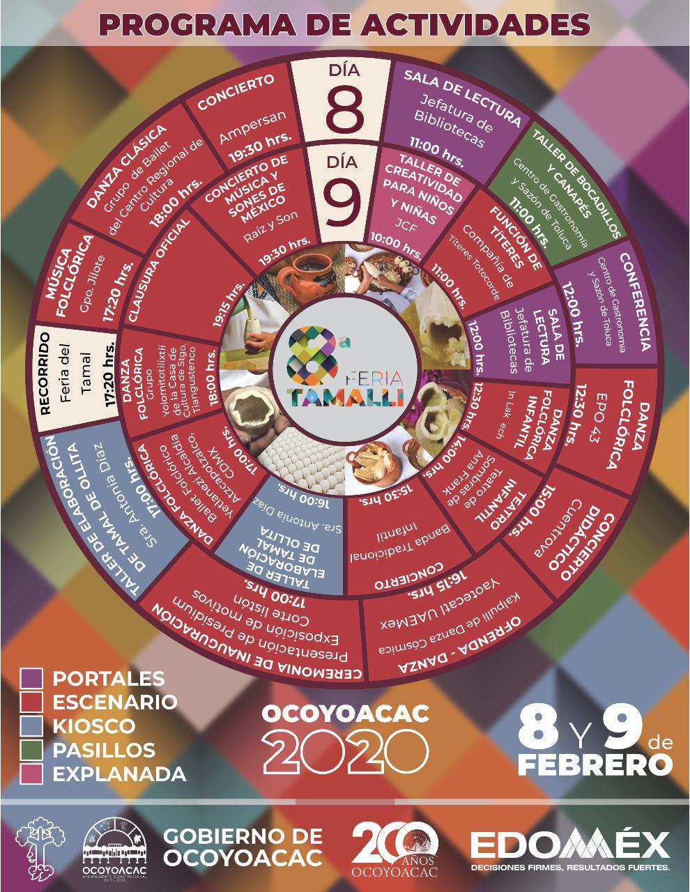 Programa de actividades Feria del Tamal Ocoyoacac 2020