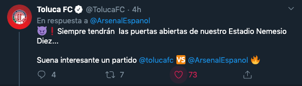 Toluca FC Arsenal 103 Aniversario