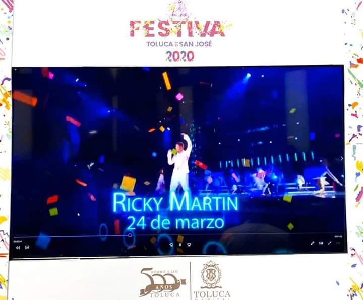 Ricky Martin en Festiva Toluca 2020