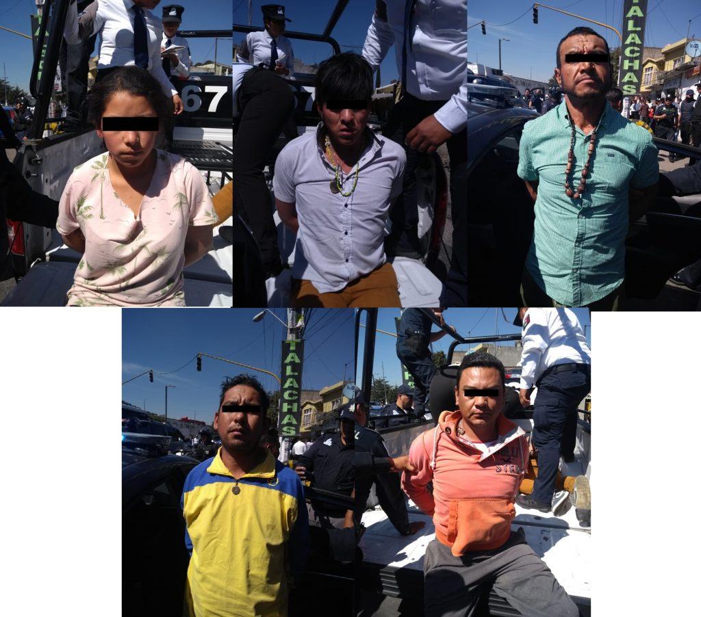 Así detuvieron en Toluca a presuntos responsables de asesinato de mujer en Tepoztlán