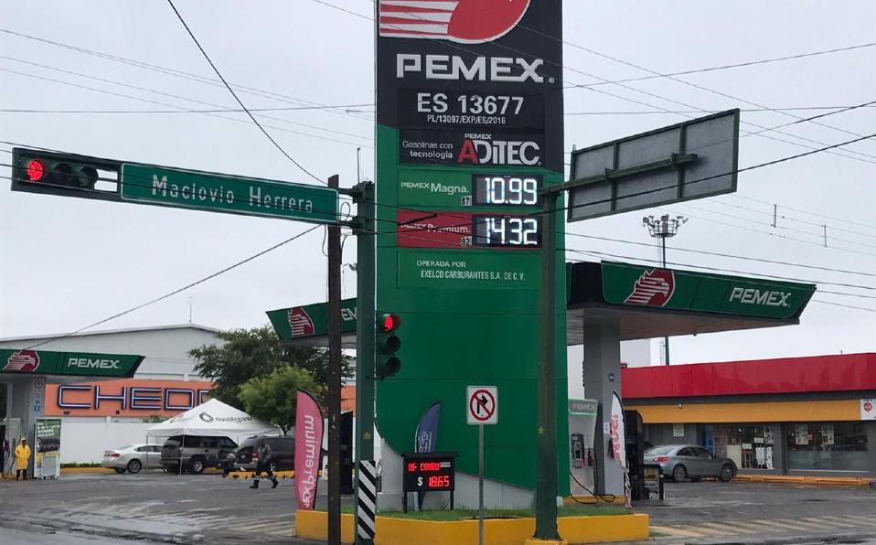 El precio de la gasolina mas bajo de todo México