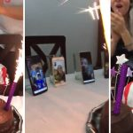Niño celebra de forma singular su cumpleaños en plena cuarentena del coronavirus