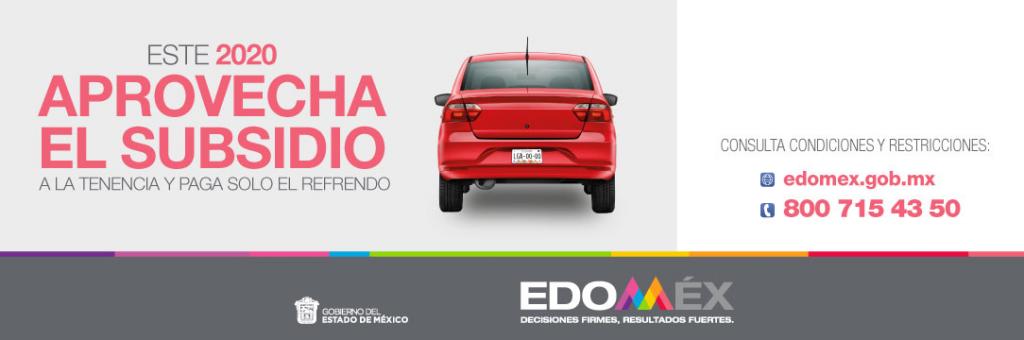 Subsidios de tenencia y placas vehiculares continuaran hasta Junio en EdoMéx