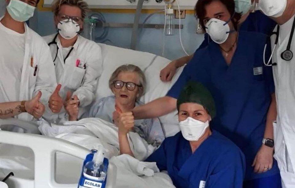 Mujer de 95 años de edad logra curarse de Covid-19
