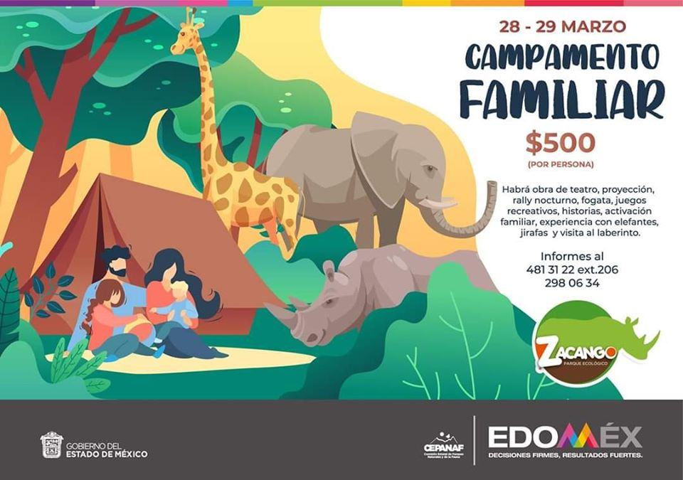 Parque Ecológico Zacango invita a campamento con entorno animal