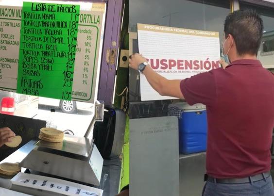 Profeco suspende tortillerías por subir sus precios