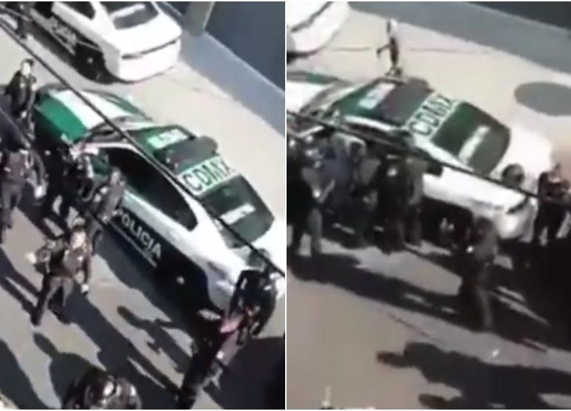 VIDEO Policías matan a pitbull en defensa