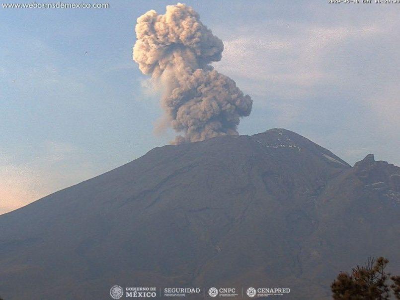México || Volcán Popocatépetl emite 366 exhalaciones