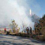 VIDEO    Fuerte incendio en el cerro del Cristo Rey, Tenancingo.
