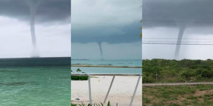 VIDEO || Impactante tromba marina en Cancún