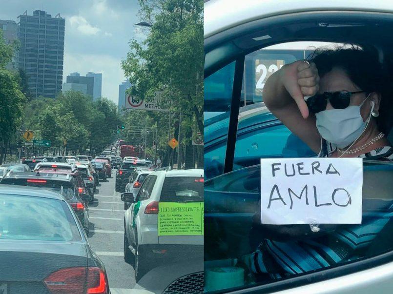 en-caravana-manifestantes-exigen-la-renuncia-de-amlo