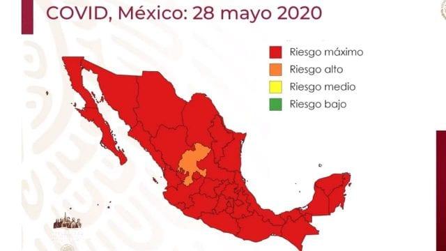 México en riesgo máximo por COVID