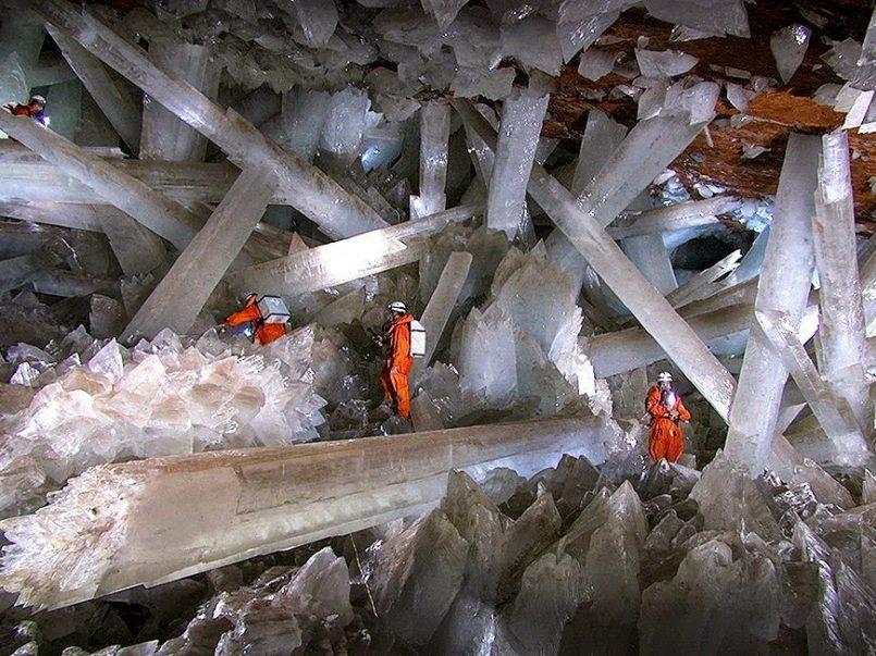 No es una pelicula, son los cristales de Naica ubicados en Chihuahua, México