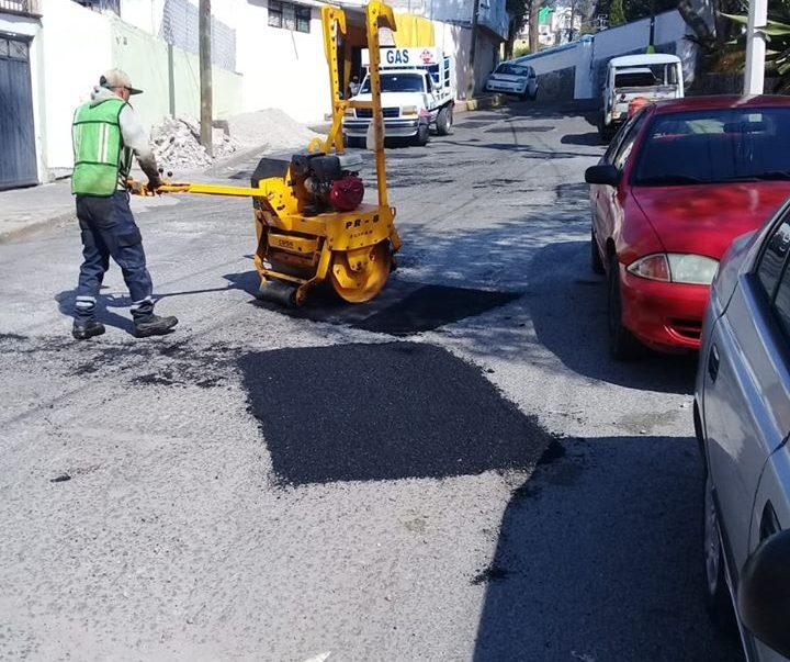 Reinicia programa de bacheo en Toluca