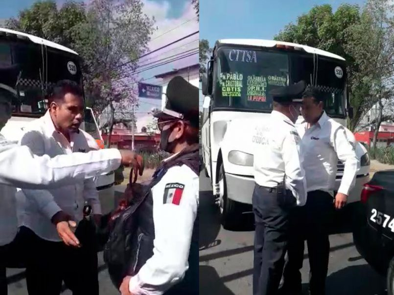 Chofer-de-transporte-público-agrede-a-policías-en-Toluca