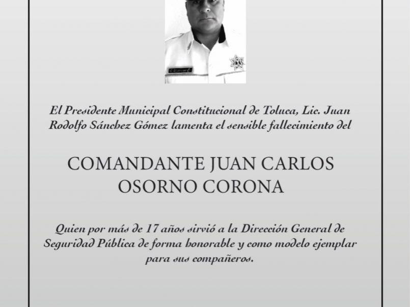 Muere policía por Coronavirus