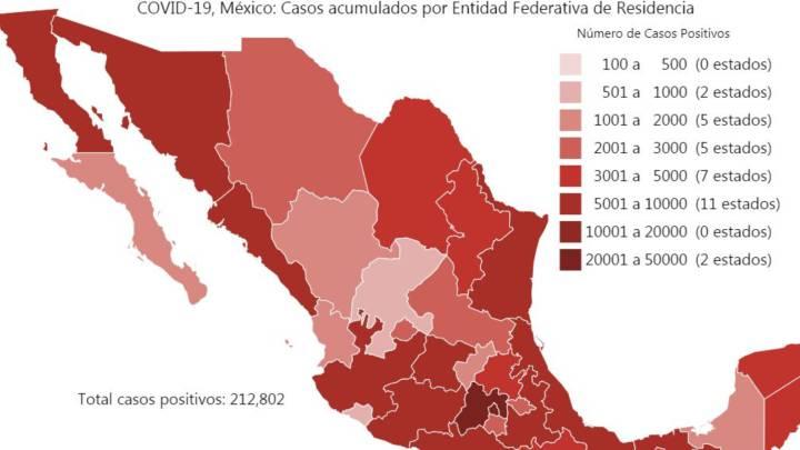 ¿Qué estados de la República Mexicana cambian a color naranja y qué actividades se reanudan?