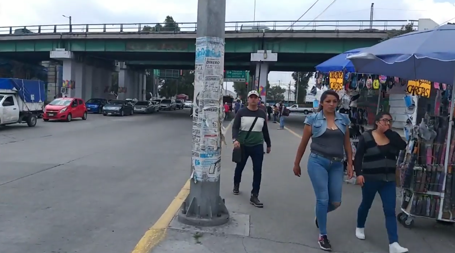 Taxistas protestan en San Mateo Atenco