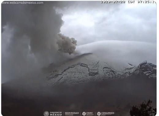 Cenizas provenientes del Popocatépetl llegan a municipios del Estado de México