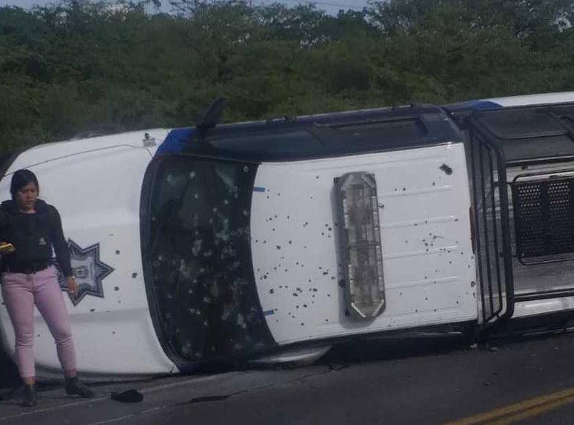 Emboscan y ejecutan a 5 policías en Apaseo el Alto