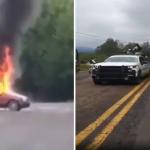 VIDEO || Policías fueron emboscados en carretera Toluca-Altamirano