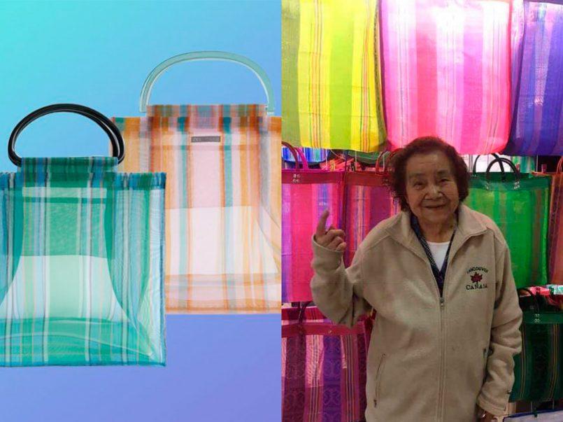 mujer-aprovecha-fracaso-bolsos-shopper-rayas-zara