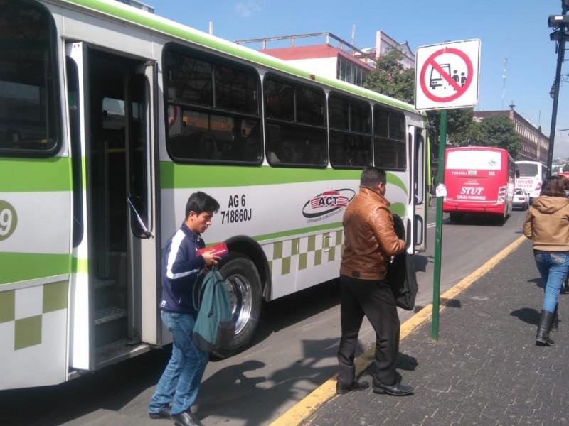 Debido a la afluencia de personas por la apertura de negocios, se comenzarán a reforzar las medidas sanitarias en el Transporte público de Toluca.