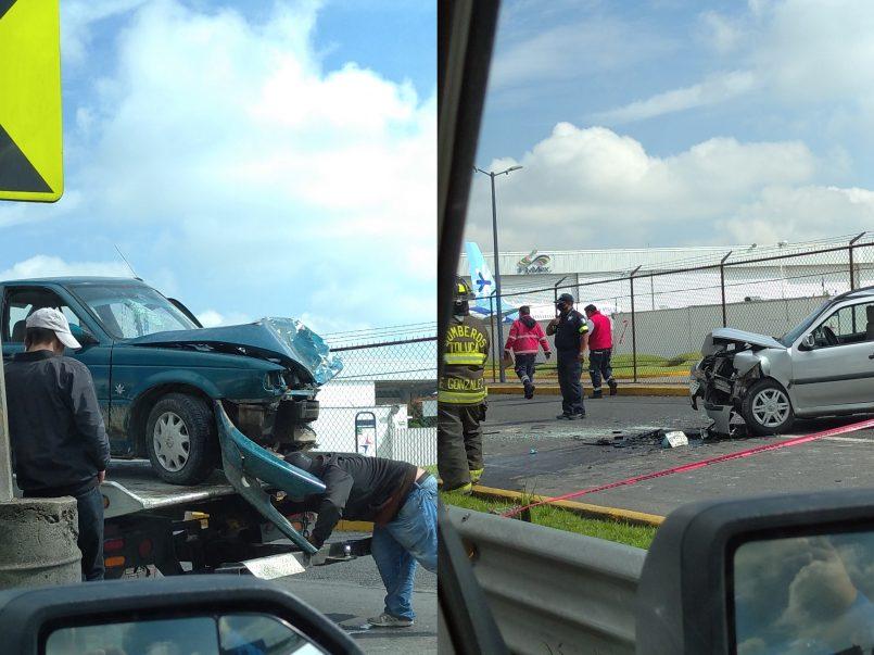 Accidente automovilístico en Av. Boulervard Aeropuerto, Toluca || FOTOGALERIA