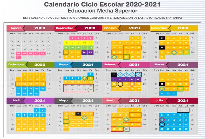 El Secretario de Educación del Edomex, dio a conocer por medio de su cuenta de Twitter, el calendario ciclo escolar 2020-2021 en Educación Media Superior.