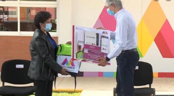 Alfredo del Mazo Maza, dio a conocer que durante la primera semana de clases se comenzará con el programa Útiles Escolares.