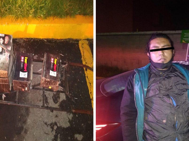 FOTOGALERÍA || Detienen a presunto delincuente dedicado al robo de autopartes en Toluca